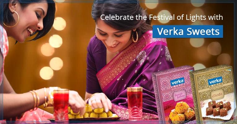 Celebrate Diwali with Verka Packaged Sweets