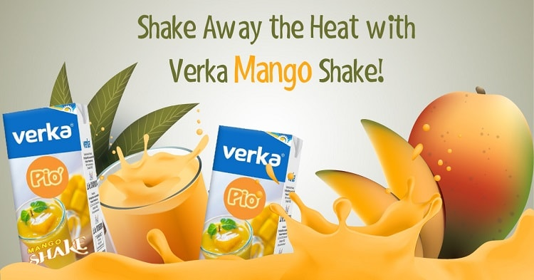 Give a Tropical Punch to your Meal with Verka Mango Shake!
