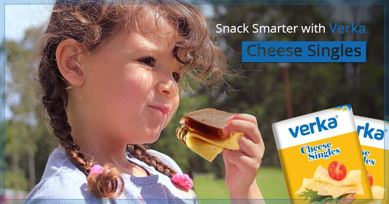 Easy Snack Recipes for Kids using Verka Cheese Singles