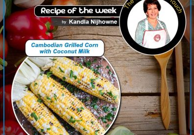 Cambodian Grilled Corn with Coconut Milk